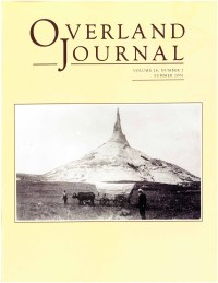 Overland Journal Volume 24 Number 2 Summer 2006