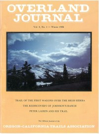 Overland Journal Volume 4 Number 1 Winter 1986