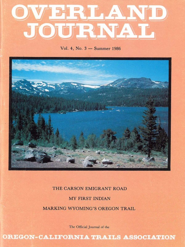 Overland Journal Volume 4 Number 3 Summer 1986