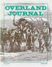 Overland Journal Volume 5 Number 3 Summer 1987