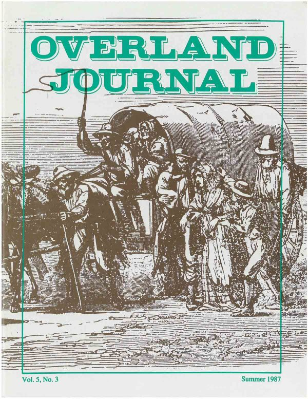 Overland Journal Volume 5 Number 3 Summer 1987