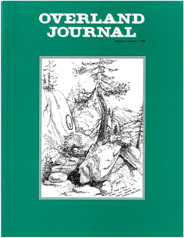 Overland Journal Volume 6 Number 3 1988