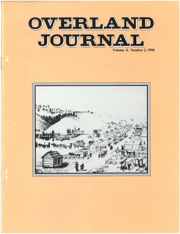 Overland Journal Volume 8 Number 2 1990