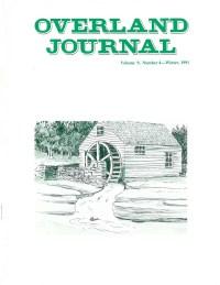 Overland Journal Volume 9 Number 4 Winter 1991