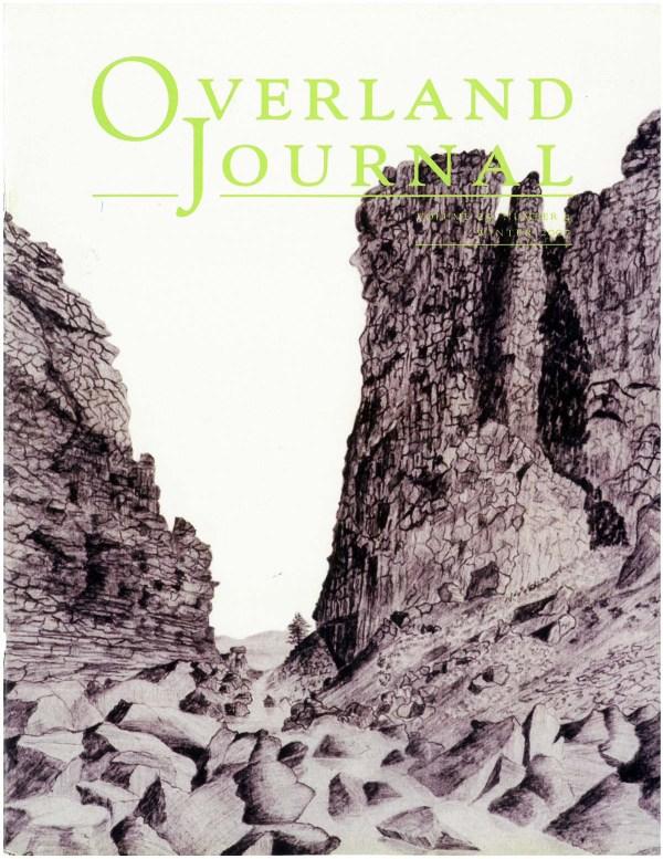 Overland Journal Volume 25 Number 4 Winter 2007