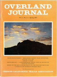 Overland Journal Volume 5 Number 2 Spring 1987