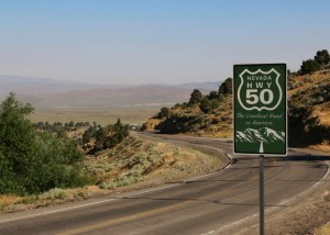 Highway 50 sign and scenic