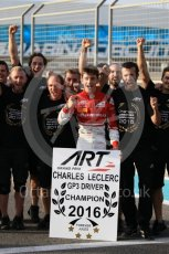 World © Octane Photographic Ltd. ART Grand Prix – Charles Leclerc. - GP3 Champion. Saturday 26th November 2016, GP3 Paddock, Yas Mairnia Circuit, Abu Dhabi. Digital Ref :