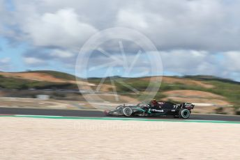World © Octane Photographic Ltd. Formula 1 – F1 Portuguese GP, Practice 1. Mercedes AMG Petronas F1 W11 EQ Performance - Valtteri Bottas. Autodromo do Algarve, Portimao, Portugal. Friday 23rd October 2020.