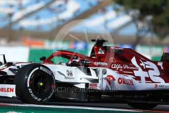 World © Octane Photographic Ltd. Formula 1 – F1 Portuguese GP, Practice 1. Alfa Romeo Racing Orlen C39 – Kimi Raikkonen. Autodromo do Algarve, Portimao, Portugal. Friday 23rd October 2020.