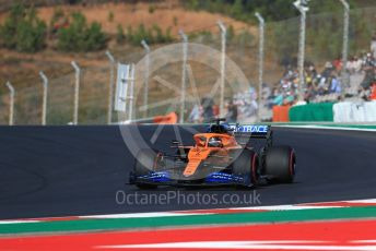 World © Octane Photographic Ltd. Formula 1 – F1 Portuguese GP, Practice 3. McLaren MCL35 – Carlos Sainz. Autodromo do Algarve, Portimao, Portugal. Saturday 24th October 2020.
