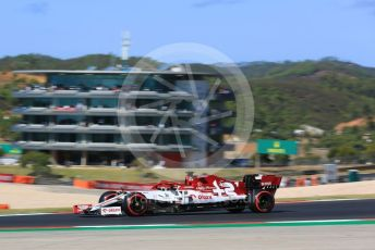 World © Octane Photographic Ltd. Formula 1 – F1 Portuguese GP, Practice 3. Alfa Romeo Racing Orlen C39 – Kimi Raikkonen. Autodromo do Algarve, Portimao, Portugal. Saturday 24th October 2020.
