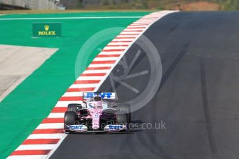 World © Octane Photographic Ltd. Formula 1 – F1 Portuguese GP, Qualifying. BWT Racing Point F1 Team RP20 - Sergio Perez. Autodromo do Algarve, Portimao, Portugal. Saturday 24th October 2020.