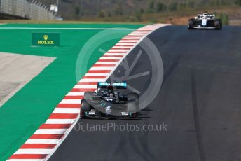 World © Octane Photographic Ltd. Formula 1 – F1 Portuguese GP, Qualifying. Mercedes AMG Petronas F1 W11 EQ Performance - Lewis Hamilton and Williams Racing FW 43 – George Russell. Autodromo do Algarve, Portimao, Portugal. Saturday 24th October 2020.