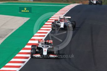 World © Octane Photographic Ltd. Formula 1 – F1 Portuguese GP, Qualifying. Haas F1 Team VF20 – Romain Grosjean and Alfa Romeo Racing Orlen C39 – Kimi Raikkonen. Autodromo do Algarve, Portimao, Portugal. Saturday 24th October 2020.