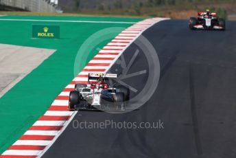 World © Octane Photographic Ltd. Formula 1 – F1 Portuguese GP, Qualifying. Alfa Romeo Racing Orlen C39 – Antonio Giovinazzi and Haas F1 Team VF20 – Kevin Magnussen. Autodromo do Algarve, Portimao, Portugal. Saturday 24th October 2020.