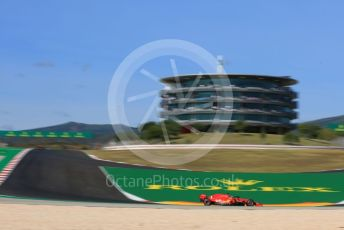 World © Octane Photographic Ltd. Formula 1 – F1 Portuguese GP, Qualifying. Scuderia Ferrari SF1000 – Sebastian Vettel. Autodromo do Algarve, Portimao, Portugal. Saturday 24th October 2020.