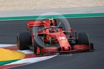 World © Octane Photographic Ltd. Formula 1 – F1 Portuguese GP, Race. Scuderia Ferrari SF1000 – Charles Leclerc. Autodromo do Algarve, Portimao, Portugal. Sunday 25th October 2020.