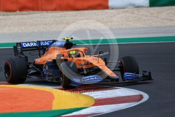 World © Octane Photographic Ltd. Formula 1 – F1 Portuguese GP, Race. McLaren MCL35 – Lando Norris. Autodromo do Algarve, Portimao, Portugal. Sunday 25th October 2020.