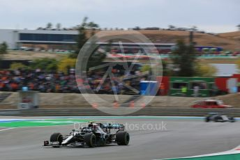 World © Octane Photographic Ltd. Formula 1 – F1 Portuguese GP, Race. Mercedes AMG Petronas F1 W11 EQ Performance - Valtteri Bottas and Lewis Hamilton. Autodromo do Algarve, Portimao, Portugal. Sunday 25th October 2020.