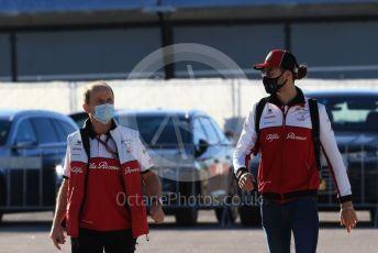 World © Octane Photographic Ltd. Formula 1 – F1 Portuguese GP, Paddock. Alfa Romeo Racing Orlen C39 – Antonio Giovinazzi. Autodromo do Algarve, Portimao, Portugal. Saturday 24th October 2020.