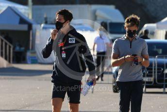 World © Octane Photographic Ltd. Formula 1 – F1 Portuguese GP, Paddock. Scuderia AlphaTauri Honda AT01 – Pierre Gasly. Autodromo do Algarve, Portimao, Portugal. Saturday 24th October 2020.