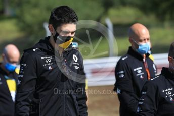 World © Octane Photographic Ltd. Formula 1 – F1 Portuguese GP, Track Walk. Renault Sport F1 Team RS20 – Esteban Ocon. Autodromo do Algarve, Portimao, Portugal. Thursday 22nd October 2020.