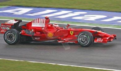World © Octane Photographic Ltd. Italian GP, Monza, Formula 1 Practice 1. Friday 12th September 2008. Kimi Raikkonen, Scuderia Ferrari Marlboro F2008. Digital Ref : 0842cb401d0022