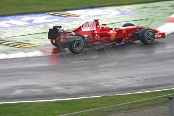 World © Octane Photographic Ltd. Italian GP, Monza, Formula 1 Practice 1. Friday 12th September 2008. Kimi Raikkonen, Scuderia Ferrari Marlboro F2008. Digital Ref : 0842cb401d0024