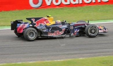 World © Octane Photographic Ltd. Italian GP, Monza, Formula 1 Practice 1. Friday 12th September 2008. Mark Webber, Red Bull Racing RB4. Digital Ref : 0842cb401d0047