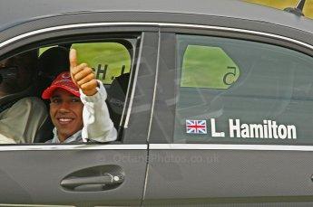 World © Octane Photographic Ltd. 2009. German Touring Cars (DTM) – Brands Hatch, UK. Lewis Hamilton demonstration laps. 6th September 2009. Digital Ref : 0054CB1D3264