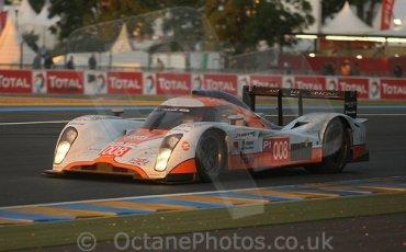 © Octane Photographic 2009. Le Mans 24hour 2009. Aston Martin LMP1, Dunlop Hill.  Digital ref: LM09_002