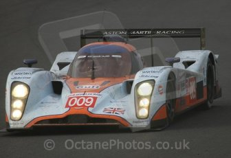 © Octane Photographic 2009. Le Mans 24hour 2009. Aston Martin LMP1 - Tetre Rouge approach. Digital ref: LM09_003
