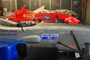 © Octane Photographic 2010. British F3 – Silverstone - Bridge circuit . T-Sport garage, Menasheh idafar, James Cole, Alex Brundle. . 15th August 2010. Digital Ref : 0051CB5D3916