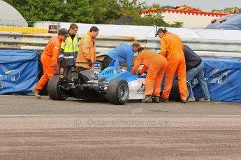 © Octane Photographic 2010. British F3 – Thruxton . Carlos Huertas - Raikkonen Roberton Racing. 7th August 2010. Digital Ref : CB1D8104