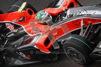 © Octane Photographic 2010. 2010 F1 Belgian Grand Prix, Friday August 27th 2010. Virgin VR-01 Lucas di Grassi. Digital Ref : 0030CB1D0077