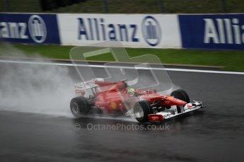 © Octane Photographic 2010. 2010 F1 Belgian Grand Prix, Friday August 27th 2010. Ferrari F10 - Felipe Massa. Digital Ref : 0030CB1D0091
