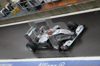 © Octane Photographic 2010. 2010 F1 Belgian Grand Prix, Friday August 27th 2010. Mercedes MGP W01 - Michael Schumacher. Digital Ref : 0030CB1D0136