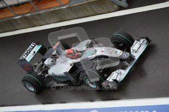 © Octane Photographic 2010. 2010 F1 Belgian Grand Prix, Friday August 27th 2010. Mercedes MGP W01 - Michael Schumacher. Digital Ref : 0030CB1D0139