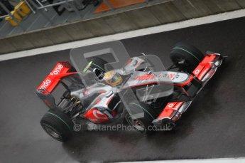 © Octane Photographic 2010. 2010 F1 Belgian Grand Prix, Friday August 27th 2010. McLaren MP4/25 - Lewis Hamilton. Digital Ref : 0030CB1D0171