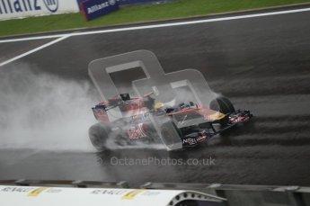 © Octane Photographic 2010. 2010 F1 Belgian Grand Prix, Friday August 27th 2010. Toro Rosso - Jaime Alguersuari. Digital Ref : 0030CB1D0289