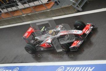 © Octane Photographic 2010. 2010 F1 Belgian Grand Prix, Friday August 27th 2010. McLaren MP4/25 - Lewis Hamilton. Digital Ref : 0030CB1D0308