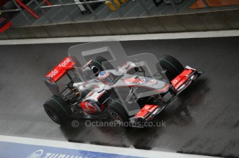 © Octane Photographic 2010. 2010 F1 Belgian Grand Prix, Friday August 27th 2010. McLaren MP4/25 - Jenson Button. Digital Ref : 0030CB1D0365
