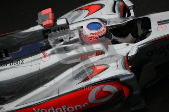 © Octane Photographic 2010. 2010 F1 Belgian Grand Prix, Friday August 27th 2010. McLaren MP4/25 - Jenson Button. Digital Ref : 0030CB1D0384