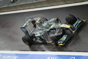 © Octane Photographic 2010. 2010 F1 Belgian Grand Prix, Friday August 27th 2010. Lotus T127 - Heikki Kovalainen. Digital Ref : 0030CB1D0460
