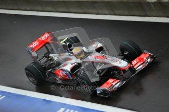 © Octane Photographic 2010. 2010 F1 Belgian Grand Prix, Friday August 27th 2010. McLaren MP4/25 - Lewis Hamilton. Digital Ref : 0030CB1D0523
