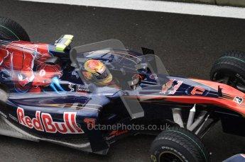 © Octane Photographic 2010. 2010 F1 Belgian Grand Prix, Friday August 27th 2010. Toro Rosso STR5 - Jaime Alguersuari. Digital Ref : LW7D0280