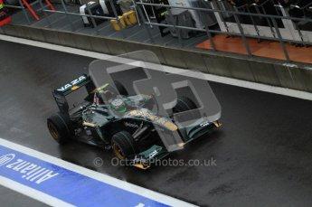 © Octane Photographic 2010. 2010 F1 Belgian Grand Prix, Friday August 27th 2010. Lotus T127 - Heikki Kovalainen. Digital Ref : 0030LW7D9834