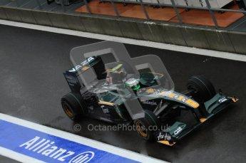 © Octane Photographic 2010. 2010 F1 Belgian Grand Prix, Friday August 27th 2010. Lotus T127 - Heikki Kovalainen. Digital Ref : 0030LW7D9838