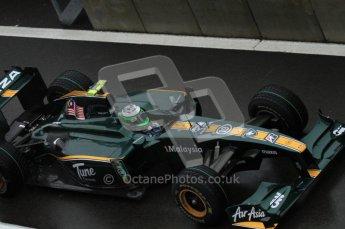 © Octane Photographic 2010. 2010 F1 Belgian Grand Prix, Friday August 27th 2010. Lotus T127 - Heikki Kovalainen. Digital Ref : 0030LW7D9843